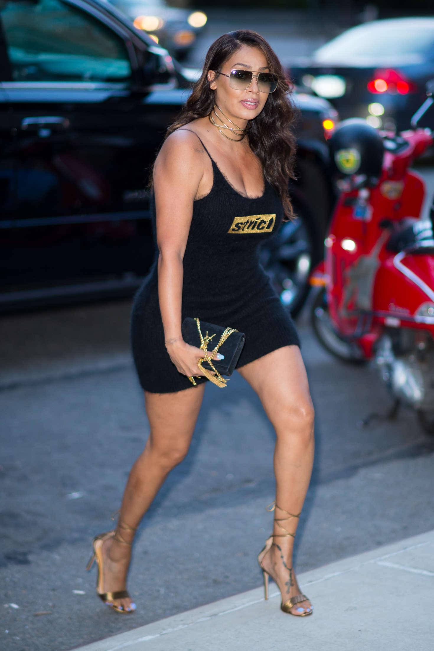 La La Anthony In Black Mini Dress 11 Gotceleb