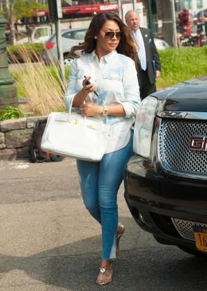 La La Anthony in Jeans in New York City