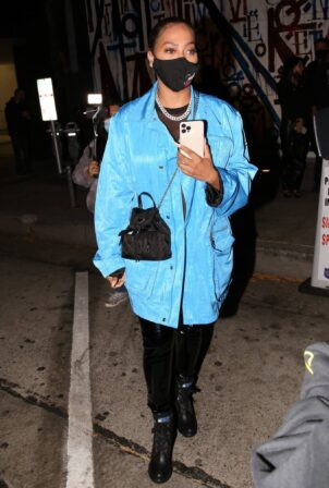 La La Anthony - Seen after dinner at Craig's in West Hollywood
