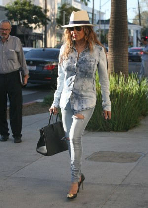 La Toya Jackson out in Beverly Hills