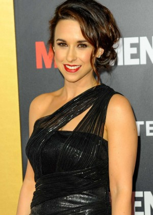 Lacey Chabert - AMC Mad Men Black & Red Ball in LA