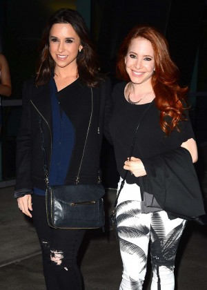 Lacey Chabert & Amy Davidson - Arriving at the Taylor Swift concert in LA
