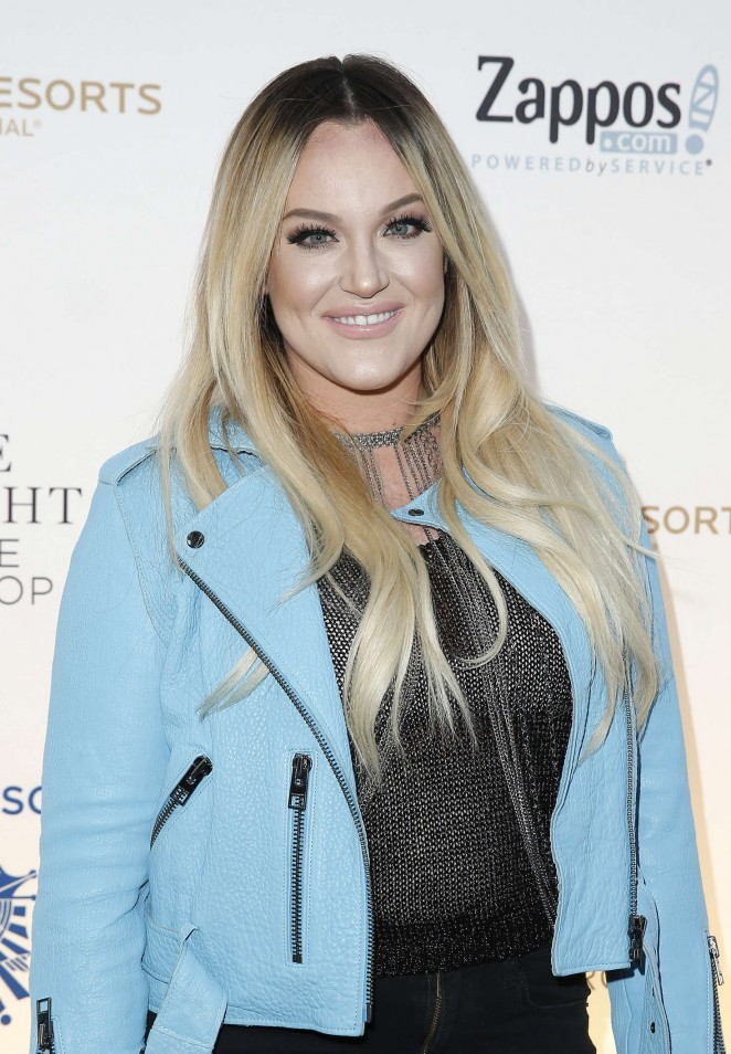 Lacey Schwimmer - One Night for ONE DROP Blue Carpet in Las Vegas