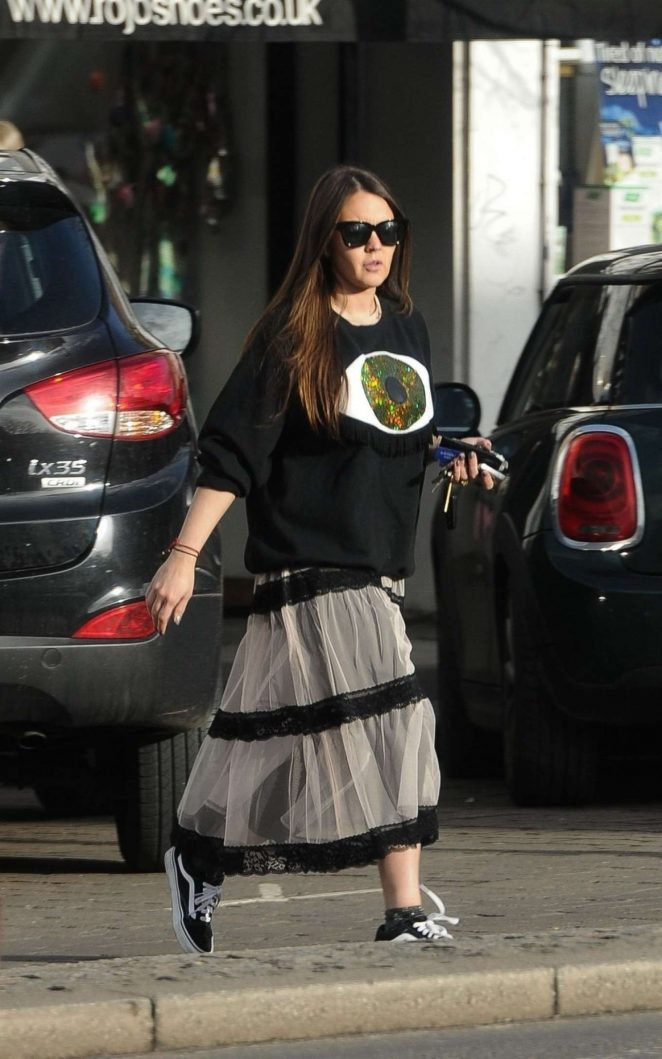Lacey Turner in Long Skirt Out in London