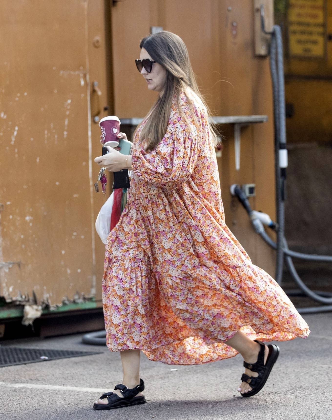 Lacey Turner - In long summer dress put in London