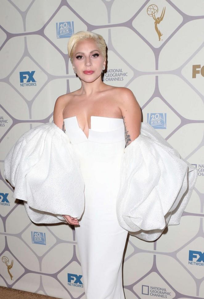 Lady Gaga - 2015 Emmy Awards Fox After Party in LA