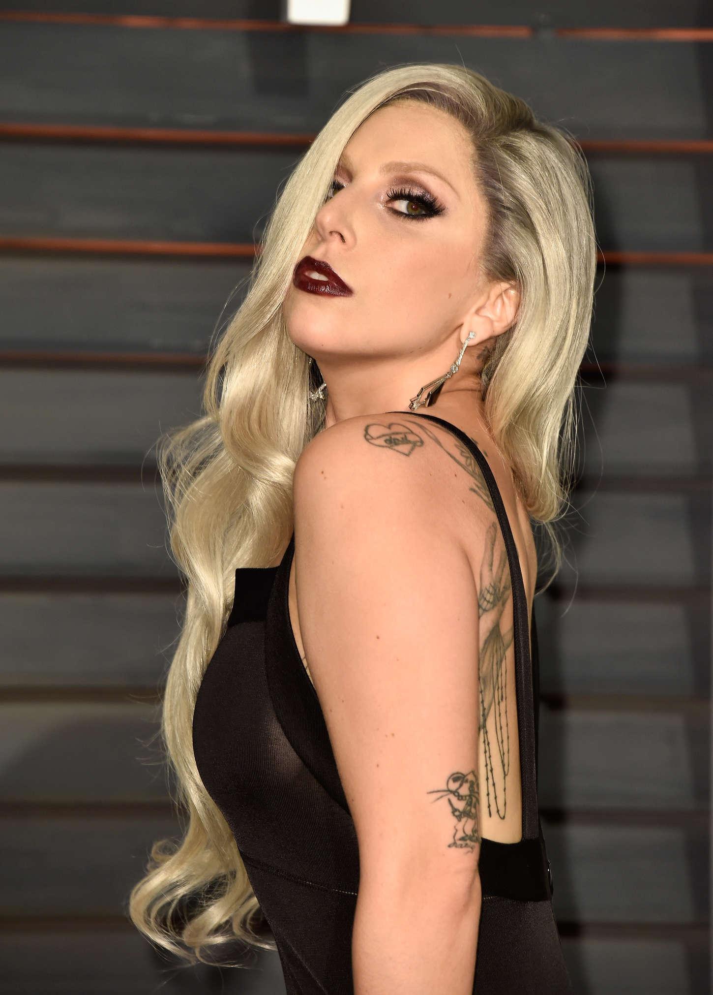 Lady Gaga Ndash 2015 Vanity Fair Oscar Party In Hollywood