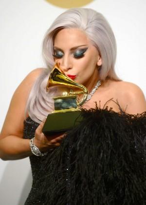 Lady Gaga - 2015 GRAMMY Awards -03