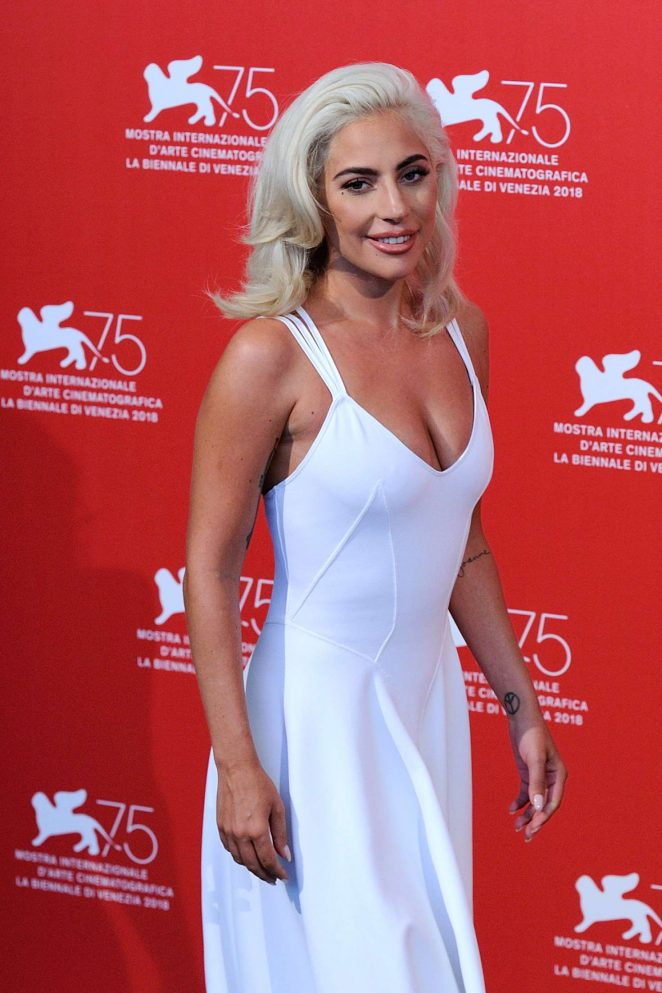 Lady Gaga - 'A Star is Born' Photocall at 2018 Venice International Film Festival in Venice