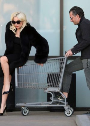 Lady Gaga and fiance shopping in Malibu