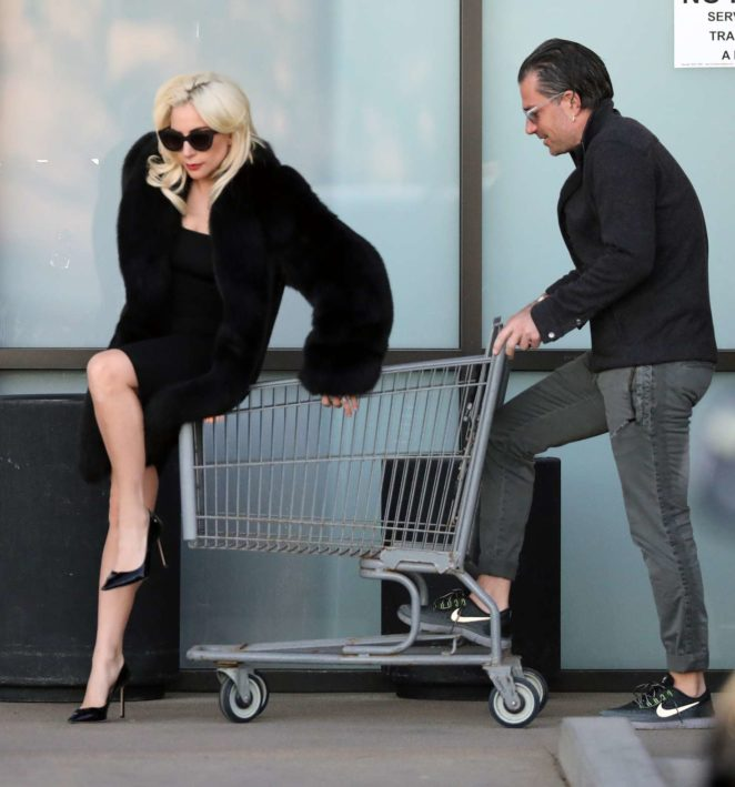 Lady Gaga and fiance shopping in Malibu