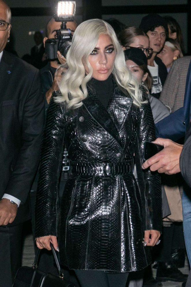 Lady Gaga - Arrives at Celine Show in Paris