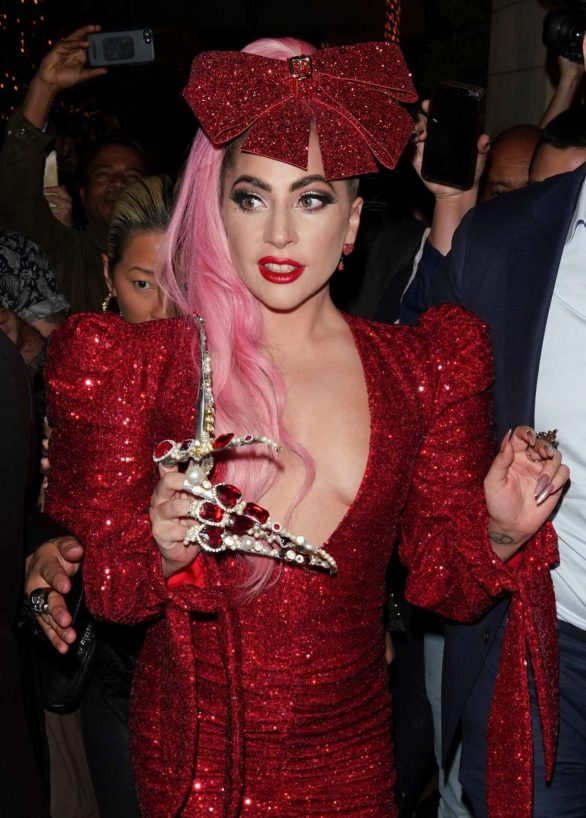 Lady Gaga - Arrives at her Haus Labs Makeup Pop Up launch in Los Angeles