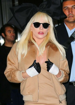 Lady Gaga - Arrives at JFK Airport in NY