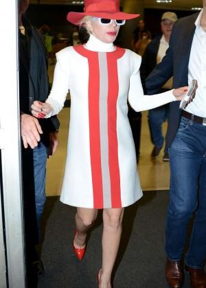 Lady Gaga - Arrives at Los Angeles International Airport