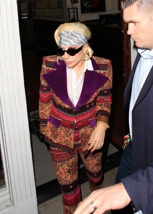 Lady Gaga - Arriving at Shamrock Social Club in West Hollywood
