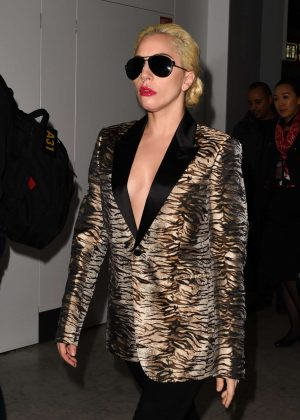 Lady Gaga at Charles de Gaulles airport in Paris