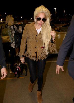 Lady Gaga at LAX airport in Los Angeles