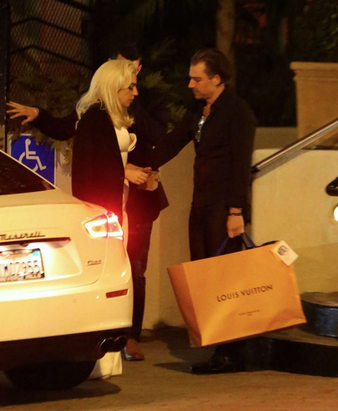 Lady Gaga at Sunset Tower Hotel in LA -01