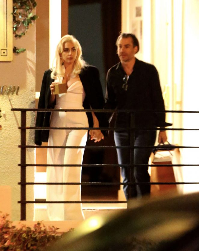 Lady Gaga at Sunset Tower Hotel in LA