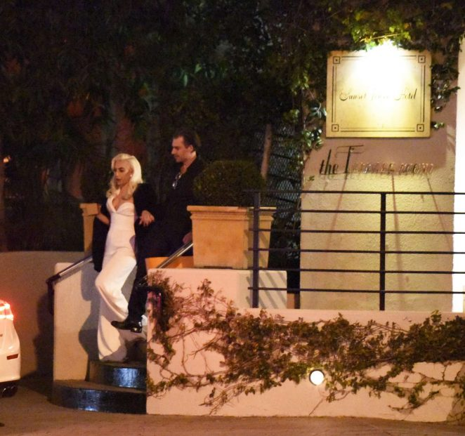 Lady Gaga at Sunset Tower Hotel in LA -16