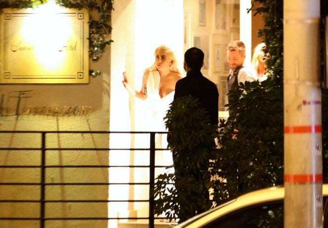 Lady Gaga at Sunset Tower Hotel in LA -19