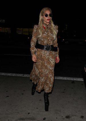Lady Gaga at The El Rey Theatre in Los Angeles