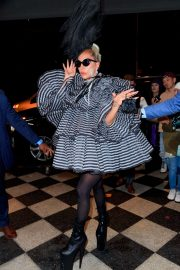 Lady Gaga - Departs Anna Wintour's pre-Met Gala dinner in NY