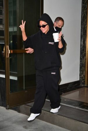 Lady Gaga - In all black seen in New York City