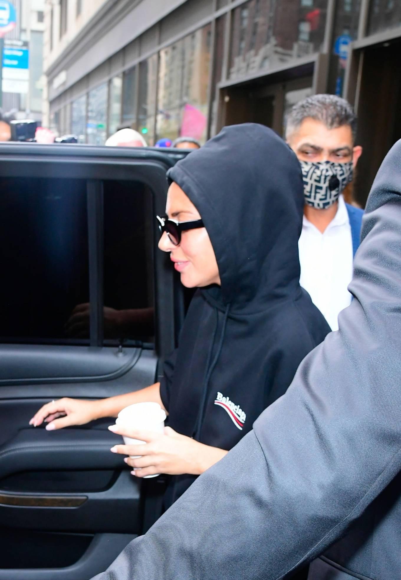 Lady Gaga 2021 : Lady Gaga – In all black seen in New York City-09