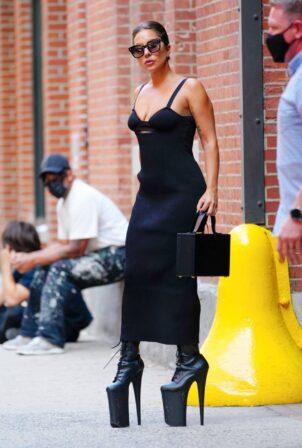 Lady Gaga - In black dress in New York City