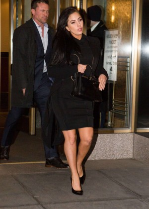 Lady Gaga in Black Dress out in NYC