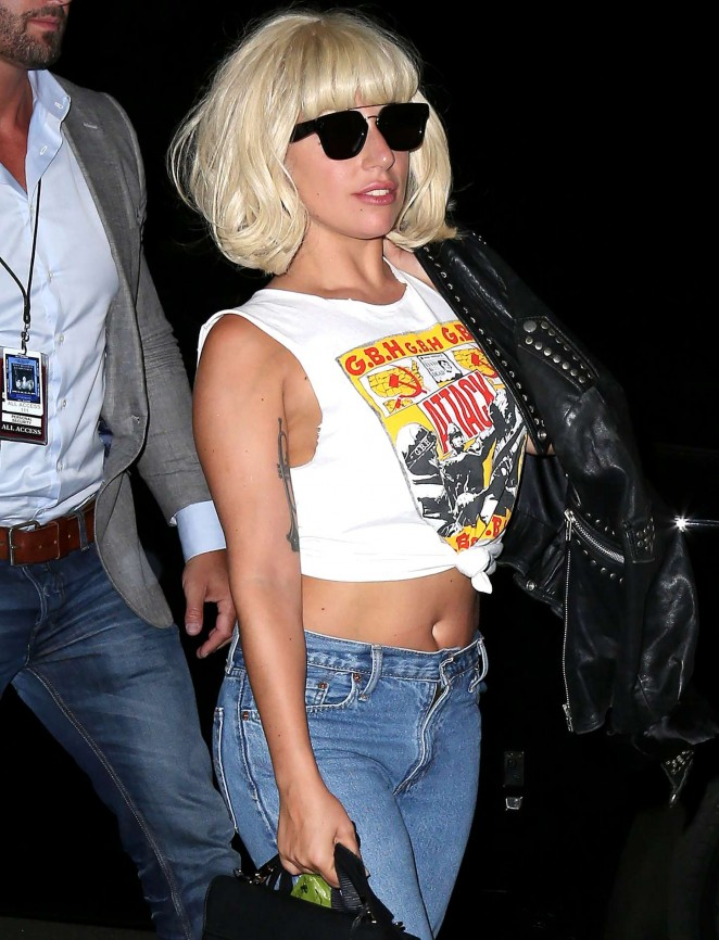 Lady Gaga in Jeans Out in NYC