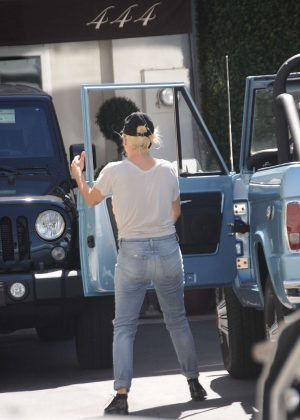 Lady Gaga in Jeans out in Los Angeles
