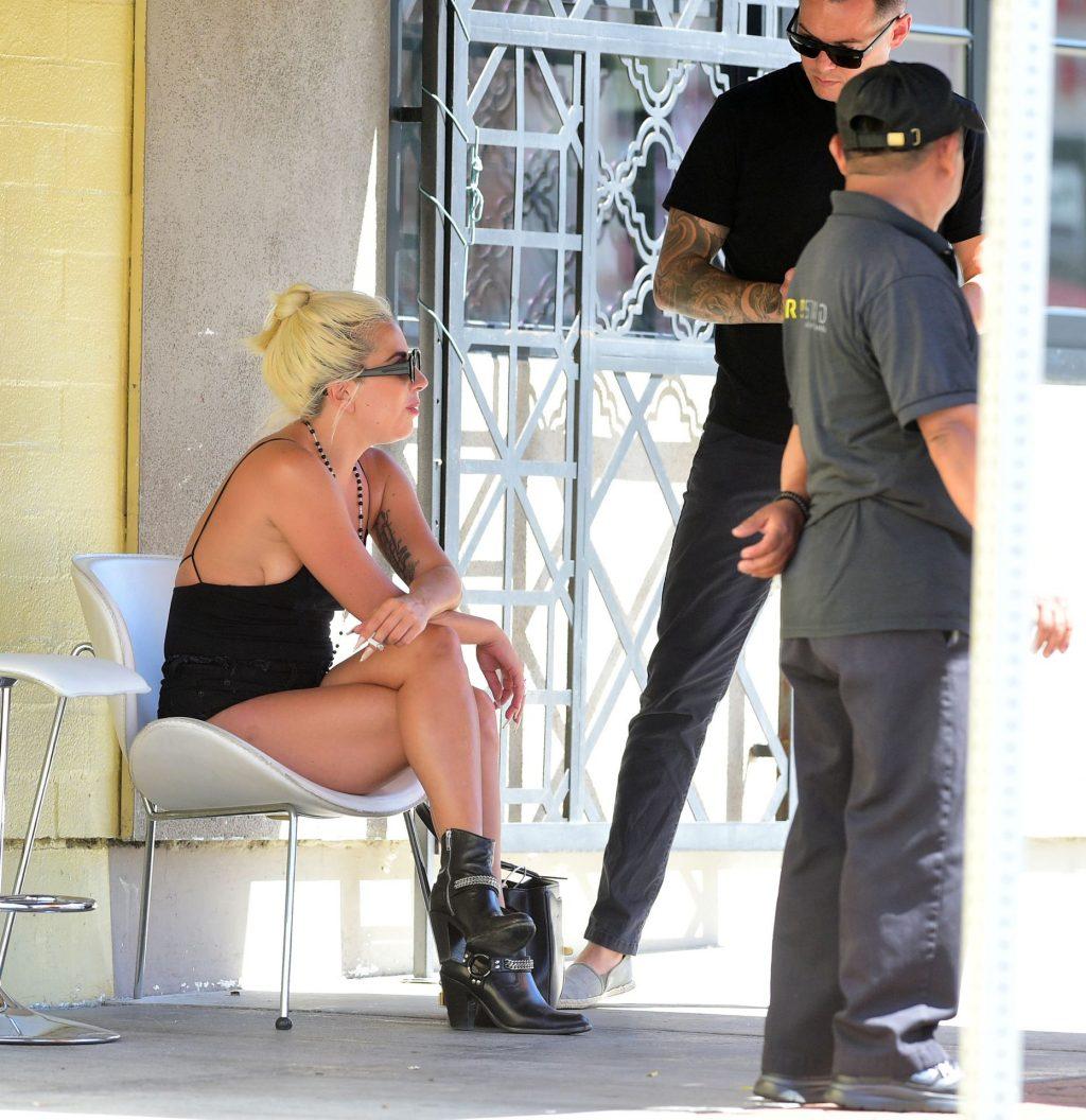 Lady Gaga 2019 : Lady Gaga in Jeans Shorts-08