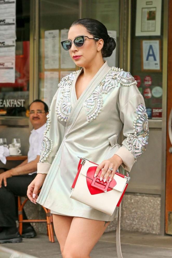 Lady Gaga in Mini Dress -03