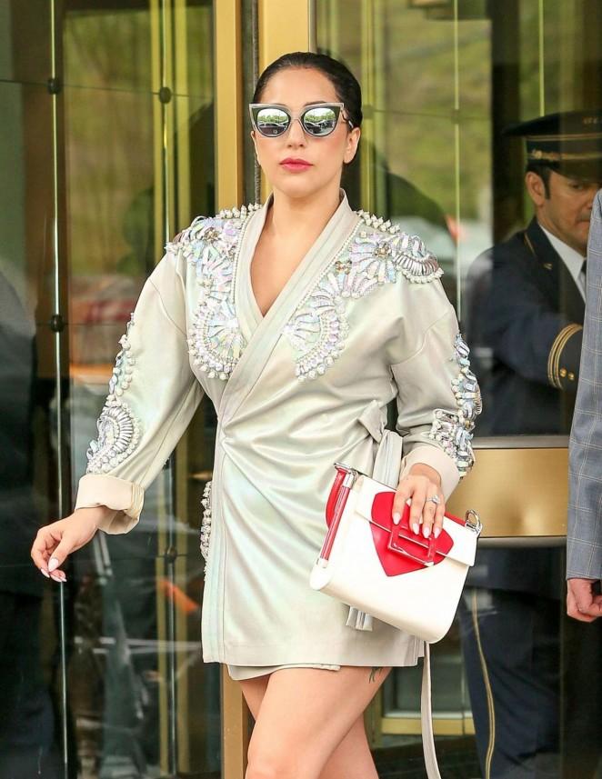 Lady Gaga in Mini Dress -04