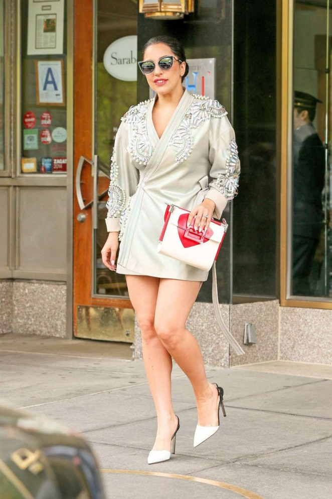 Lady Gaga in Mini Dress -06