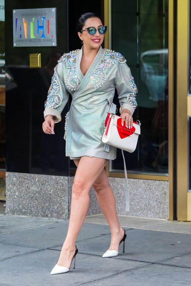 Lady Gaga in Mini Dress -07
