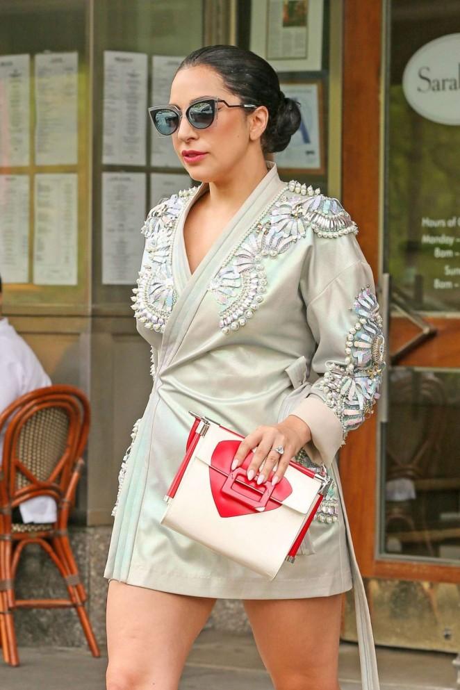 Lady Gaga in Mini Dress -12