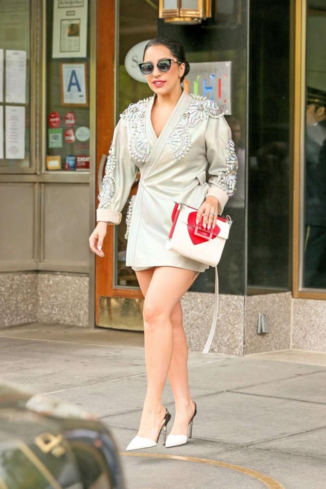 Lady Gaga in Mini Dress -13