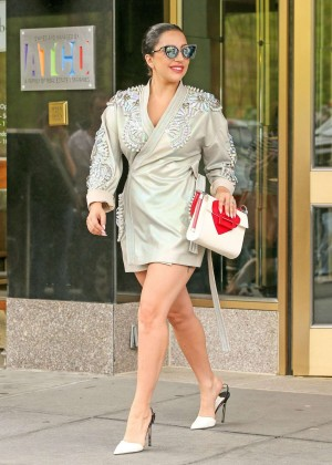 Lady Gaga in Mini Dress in New York