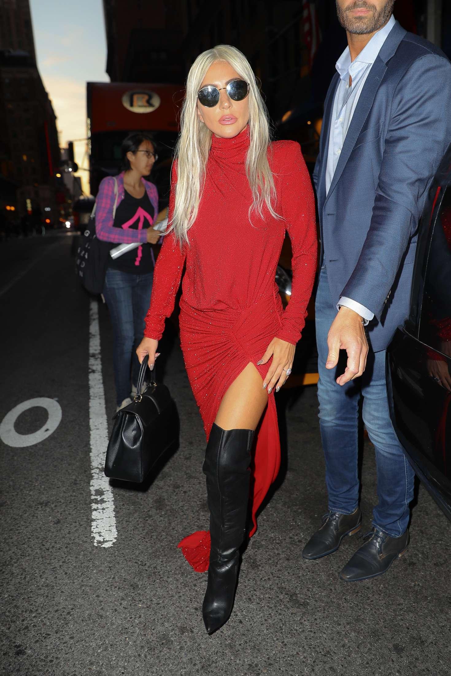 Lady Gaga In Red Dress 07 Gotceleb