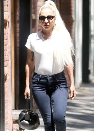 Lady Gaga in Tight Jeans - Out in New York City
