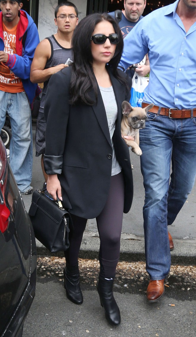 Lady Gaga in Tights Out in NYC