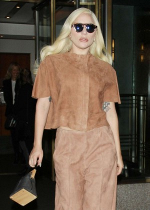Lady Gaga - Leaves Hotel in New York