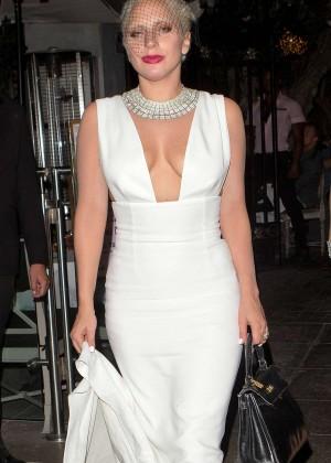 Lady Gaga - Leaves Pump Restaurant in West Hollywood