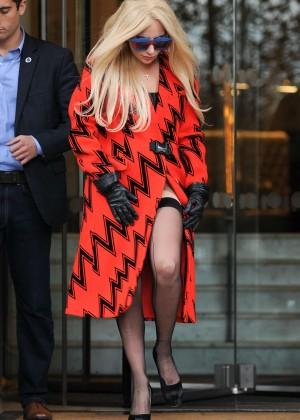 Lady Gaga - Leaves The Langham hotel in London