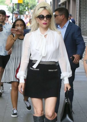 Lady Gaga - Leaves the studio in New York City