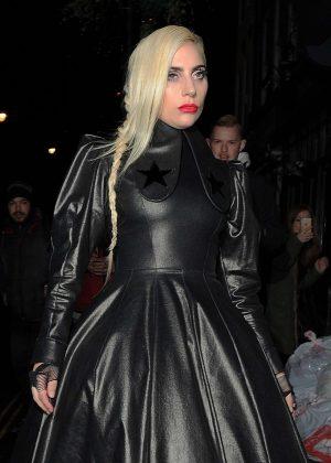 Lady Gaga - Leaving Groucho club in Soho